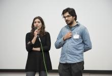 _DSC1455 La regista Maureen Fazendeiro e Alberto Diana